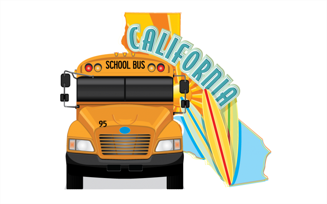 California School Bus Lettering